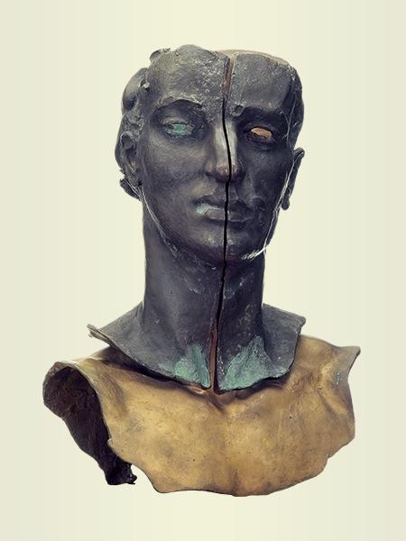 Sculpture, title: Self-portrait 2
