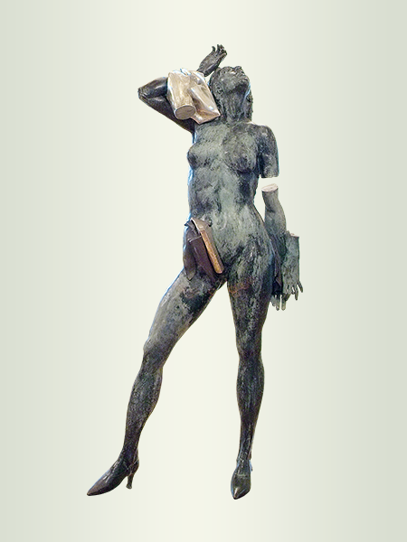 Sculpture, title: Fan Tango