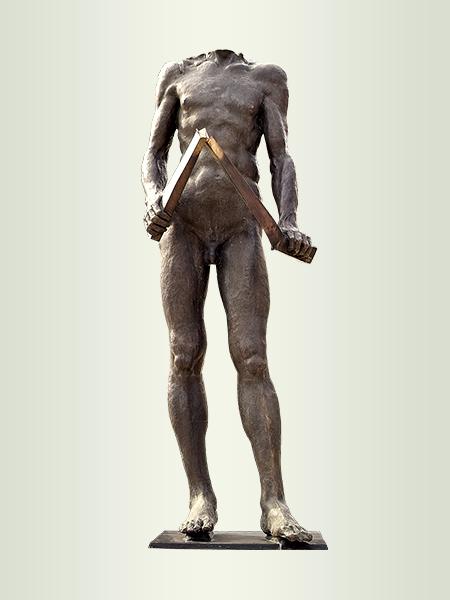 Sculpture, title: Gesture