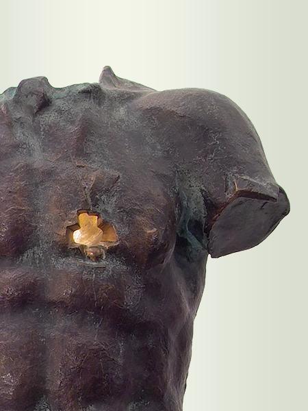 Sculpture, title: Rider