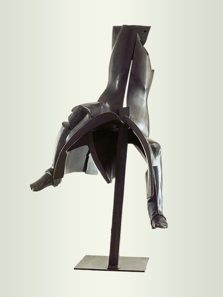 Sculpture, title: Rider 4
