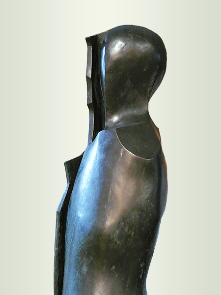 Sculpture, title: She