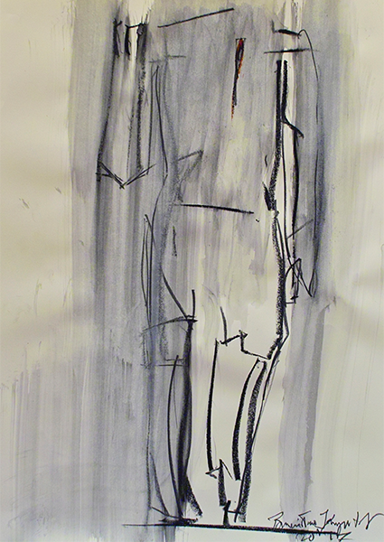 Drawing, title: I'm Standing