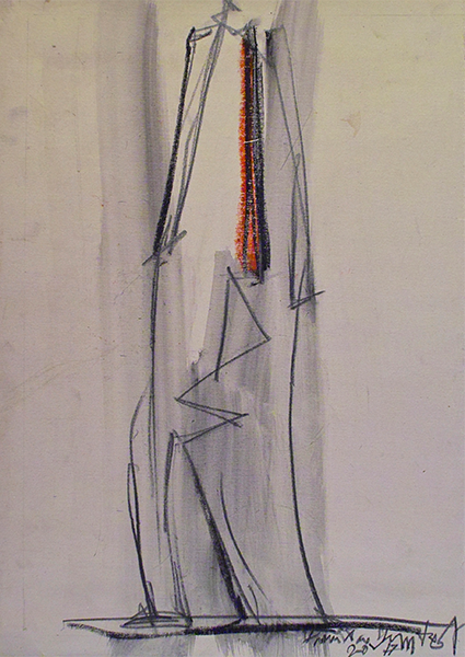 Drawing, title: Dame