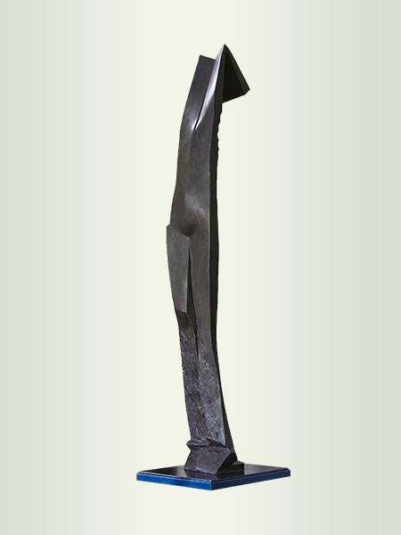 Sculpture, title: Blue